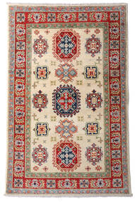 Kazak Dywan 92X144 Orientalny Tkany Ręcznie Ciemnoczerwony/Beżowy (Wełna, Afganistan)
