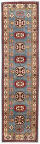 Kazak Dywan 81X309 Orientalny Tkany Ręcznie Chodnik Ciemnoczerwony/Niebieski (Wełna, Afganistan)