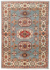 Kazak Dywan 124X174 Orientalny Tkany Ręcznie Ciemnoszary/Ciemnoczerwony (Wełna, Pakistan)