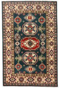 Kazak Dywan 120X184 Orientalny Tkany Ręcznie Ciemnoniebieski/Ciemnoczerwony (Wełna, Afganistan)