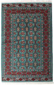 Turkmeński Dywan 140X208 Orientalny Tkany Ręcznie Czarny/Ciemnozielony (Wełna, Persja/Iran)