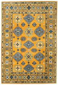 Kazak Dywan 199X296 Orientalny Tkany Ręcznie Pomarańczowy/Ciemnoszary (Wełna, Afganistan)
