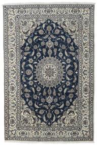 Nain Dywan 197X296 Orientalny Tkany Ręcznie Ciemnoszary/Jasnoszary/Ciemnoniebieski (Wełna, Persja/Iran)