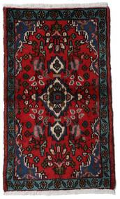 Asadabad Dywan 54X90 Orientalny Tkany Ręcznie Ciemnoczerwony/Czerwony (Wełna, Persja/Iran)