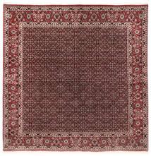 Bidżar Z Dodatkiem Jedwabiu Dywan 202X206 Orientalny Tkany Ręcznie Kwadratowy Ciemnoczerwony/Ciemnobrązowy (Wełna/Jedwab, Persja/Iran)