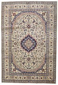 Nain Dywan 242X351 Orientalny Tkany Ręcznie Jasnoszary/Beżowy (Wełna, Persja/Iran)