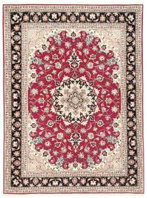 Tebriz 50 Raj Dywan 151X200 Orientalny Tkany Ręcznie Beżowy/Jasnoszary (Wełna/Jedwab, Persja/Iran)