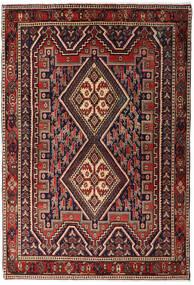 Afszar Shahre Babak Dywan 125X182 Orientalny Tkany Ręcznie Ciemnoczerwony/Ciemnobrązowy (Wełna, Persja/Iran)