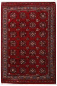 Pakistański Bucharski 3Ply Dywan 201X301 Orientalny Tkany Ręcznie Ciemnoczerwony/Ciemnobrązowy (Wełna, Pakistan)