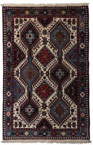 Yalameh Dywan 80X126 Orientalny Tkany Ręcznie Ciemnoczerwony/Jasnoszary (Wełna, Persja/Iran)