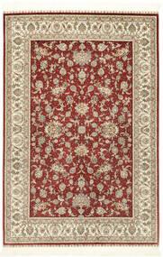 Herike Ch Dywan 124X186 Orientalny Tkany Ręcznie Ciemnoczerwony/Beżowy (Jedwab, Chiny)