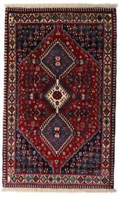 Yalameh Dywan 83X134 Orientalny Tkany Ręcznie Ciemnoczerwony (Wełna, Persja/Iran)