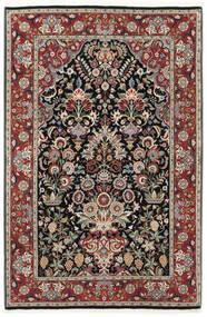 Ilam Sherkat Farsh Jedwab Dywan 105X155 Orientalny Tkany Ręcznie Ciemnoczerwony/Jasnoszary (Wełna/Jedwab, Persja/Iran)
