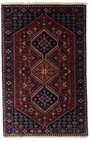 Yalameh Dywan 80X126 Orientalny Tkany Ręcznie Ciemnoczerwony (Wełna, Persja/Iran)