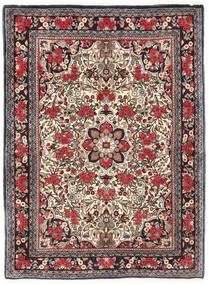 Bidżar Dywan 115X155 Orientalny Tkany Ręcznie Ciemnobrązowy/Ciemnoczerwony (Wełna, Persja/Iran)