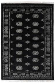 Pakistański Bucharski 3Ply Dywan 135X196 Orientalny Tkany Ręcznie Czarny/Ciemnoszary (Wełna, Pakistan)