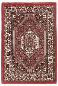 Bidżar Z Dodatkiem Jedwabiu Dywan 60X90 Orientalny Tkany Ręcznie Ciemnoczerwony/Beżowy (Wełna/Jedwab, Persja/Iran)