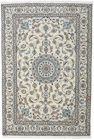Nain Dywan 195X284 Orientalny Tkany Ręcznie Jasnoszary/Ciemnoszary (Wełna, Persja/Iran)