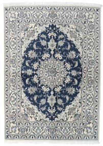 Nain Dywan 143X200 Orientalny Tkany Ręcznie Jasnoszary/Ciemnoniebieski (Wełna, Persja/Iran)
