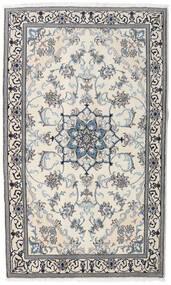 Nain Dywan 120X200 Orientalny Tkany Ręcznie Jasnoszary/Beżowy (Wełna, Persja/Iran)