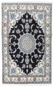 Nain Dywan 120X196 Orientalny Tkany Ręcznie Jasnoszary/Ciemnoniebieski (Wełna, Persja/Iran)