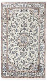 Nain Dywan 120X204 Orientalny Tkany Ręcznie Jasnoszary/Ciemnobeżowy (Wełna, Persja/Iran)