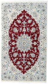 Nain Dywan 115X200 Orientalny Tkany Ręcznie Jasnoszary/Ciemnoczerwony (Wełna, Persja/Iran)