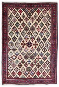 Meimeh Dywan 110X160 Orientalny Tkany Ręcznie Beżowy/Czarny (Wełna, Persja/Iran)
