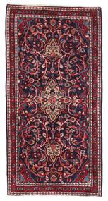 Saruk Dywan 64X125 Orientalny Tkany Ręcznie Ciemnoczerwony/Ciemnofioletowy (Wełna, Persja/Iran)