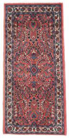 Saruk Dywan 65X136 Orientalny Tkany Ręcznie Ciemnofioletowy/Ciemnoczerwony (Wełna, Persja/Iran)