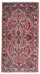 Saruk Dywan 75X140 Orientalny Tkany Ręcznie Ciemnofioletowy/Jasnoróżowy (Wełna, Persja/Iran)