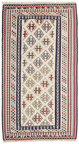 Kilim Senneh Dywan 148X268 Orientalny Tkany Ręcznie Beżowy/Ciemnoszary (Wełna, Persja/Iran)