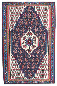 Kilim Senneh Dywan 110X170 Orientalny Tkany Ręcznie Ciemnoszary/Ciemnofioletowy (Wełna, Persja/Iran)