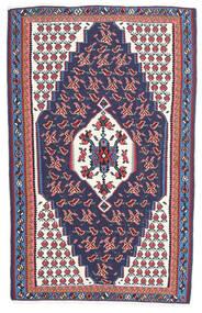 Kilim Senneh Dywan 110X165 Orientalny Tkany Ręcznie Ciemnoszary/Ciemnofioletowy (Wełna, Persja/Iran)