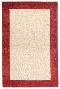 Loribaft (Persja) Dywan 105X158 Nowoczesny Tkany Ręcznie Beżowy/Ciemnoczerwony (Wełna, Persja/Iran)