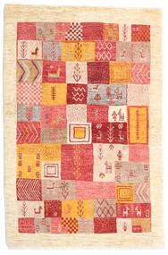 Loribaft (Persja) Dywan 103X153 Nowoczesny Tkany Ręcznie Beżowy/Rdzawy/Czerwony (Wełna, Persja/Iran)