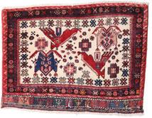 Afszar/Sirjan Dywan 55X88 Orientalny Tkany Ręcznie Ciemnofioletowy/Jasnoróżowy (Wełna, Persja/Iran)