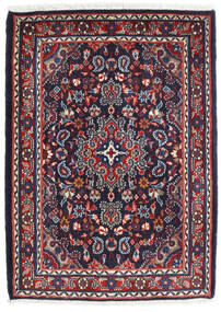 Hamadan Shahrbaf Dywan 72X100 Orientalny Tkany Ręcznie Ciemnofioletowy/Ciemnoczerwony (Wełna, Persja/Iran)
