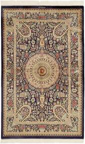 Kom Jedwab Dywan 99X157 Orientalny Tkany Ręcznie Ciemnobrązowy/Brązowy (Jedwab, Persja/Iran)