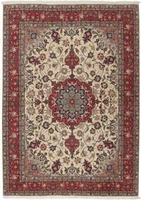 Tebriz 50 Raj Dywan 155X211 Orientalny Tkany Ręcznie Jasnoszary/Ciemnoczerwony (Wełna/Jedwab, Persja/Iran)