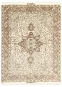 Tebriz 50 Raj Dywan 148X200 Orientalny Tkany Ręcznie Beżowy/Jasnoszary (Wełna/Jedwab, Persja/Iran)