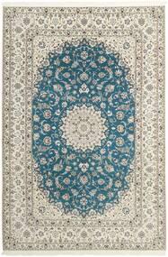Nain 6La Dywan 210X312 Orientalny Tkany Ręcznie Jasnoszary/Beżowy (Wełna/Jedwab, Persja/Iran)