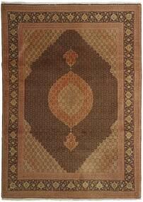 Tebriz 50 Raj Dywan 254X358 Orientalny Tkany Ręcznie Brązowy/Ciemnobrązowy Duży (Wełna/Jedwab, Persja/Iran)