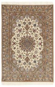 Isfahan Jedwabna Osnowa Dywan 112X174 Orientalny Tkany Ręcznie Beżowy/Jasnobrązowy (Wełna/Jedwab, Persja/Iran)