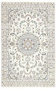 Nain 9La Dywan 114X179 Orientalny Tkany Ręcznie Jasnoszary/Biały/Creme/Beżowy (Wełna/Jedwab, Persja/Iran)