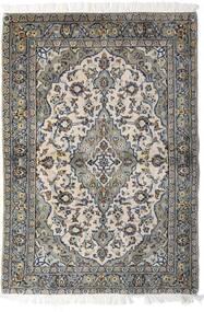 Keszan Dywan 98X140 Orientalny Tkany Ręcznie Jasnoszary/Ciemnoszary (Wełna, Persja/Iran)