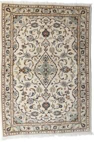 Keszan Dywan 103X144 Orientalny Tkany Ręcznie Jasnoszary/Beżowy (Wełna, Persja/Iran)