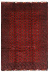 Afgan Dywan 202X283 Orientalny Tkany Ręcznie Ciemnoczerwony/Ciemnobrązowy (Wełna, Afganistan)