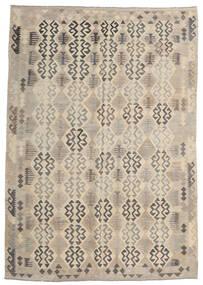 Kilim Afgan Old Style Dywan 205X293 Orientalny Tkany Ręcznie Jasnoszary/Beżowy (Wełna, Afganistan)