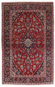 Keszan Dywan 98X158 Orientalny Tkany Ręcznie Ciemnoczerwony/Ciemnoniebieski (Wełna, Persja/Iran)